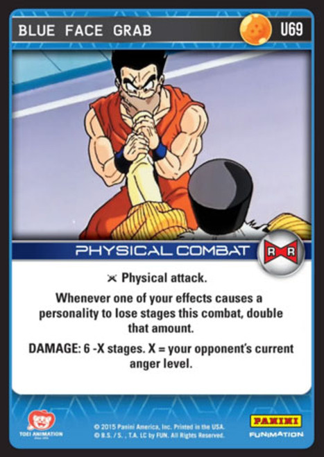 Dragon Ball Z Evolution Uncommon Blue Face Grab U69