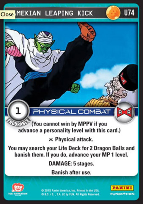 Dragon Ball Z CCG Evolution Uncommon Namekian Leaping Kick U74