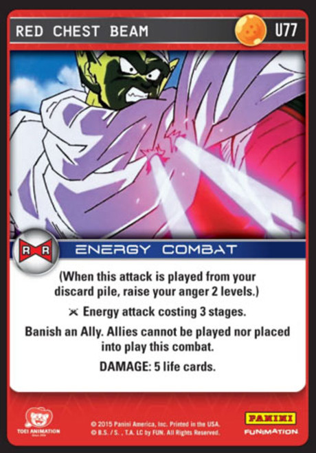 Dragon Ball Z CCG Evolution Uncommon Red Chest Beam U77