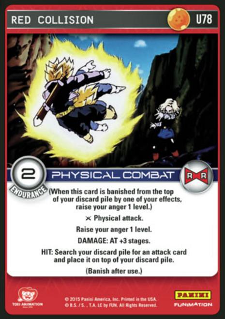 Dragon Ball Z Evolution Uncommon Red Collision U78