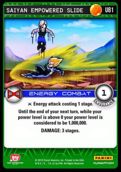 Dragon Ball Z CCG Evolution Uncommon Saiyan Empowered Slide U81