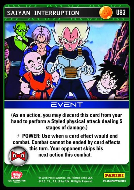 Dragon Ball Z CCG Evolution Uncommon Saiyan Interruption U83