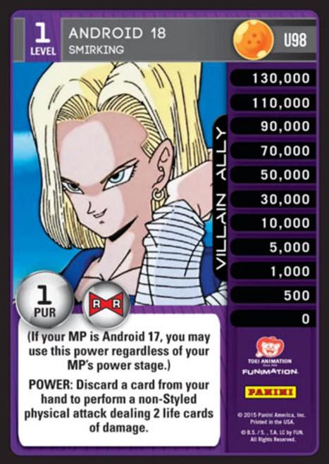 Dragon Ball Z Evolution Uncommon Android 18 - Smirking U98