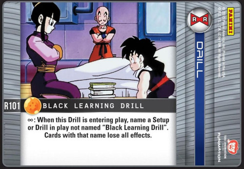 Dragon Ball Z CCG Evolution Rare Black Learning Drill R101
