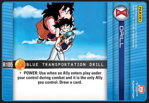 Dragon Ball Z CCG Evolution Rare Blue Transportation Drill R105