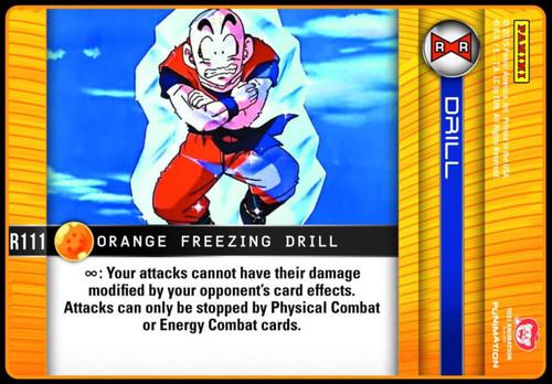 Dragon Ball Z Evolution Rare Orange Freezing Drill R111