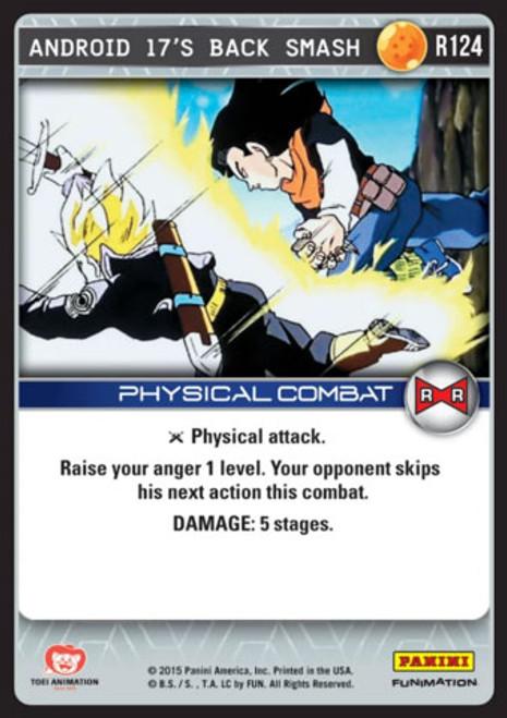 Dragon Ball Z CCG Evolution Rare Android 17's Back Smash R124