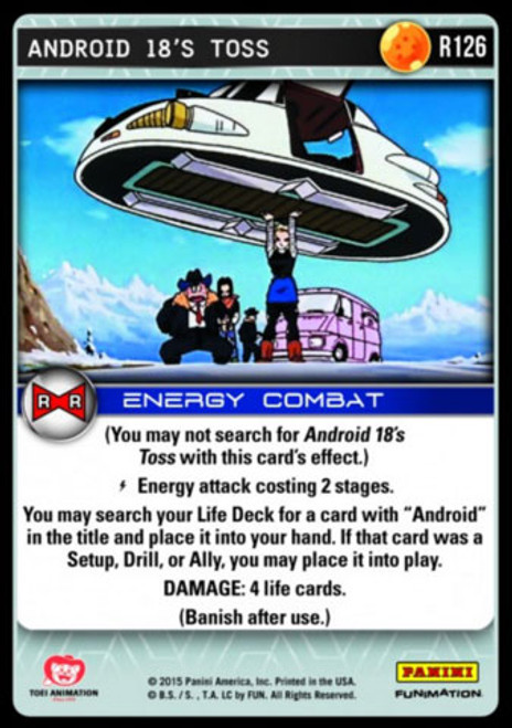 Dragon Ball Z Evolution Rare Android 18's Toss R126