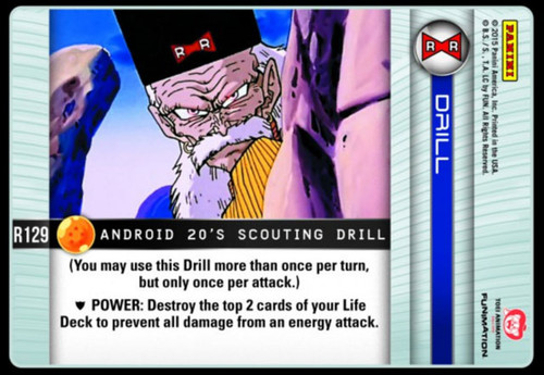 Dragon Ball Z CCG Evolution Rare Android 20's Scouting Drill R129