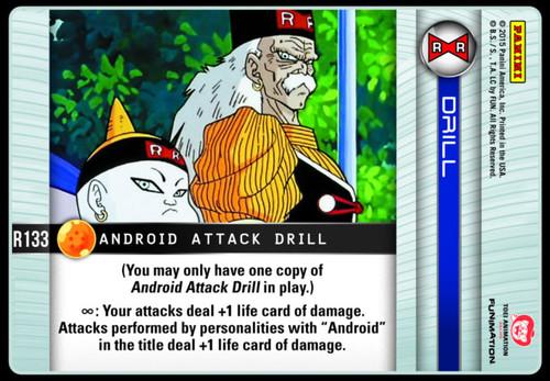 Dragon Ball Z CCG Evolution Rare Android Attack Drill R133