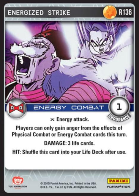 Dragon Ball Z CCG Evolution Rare Energized Strike R136
