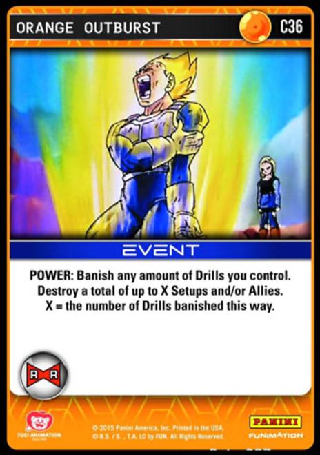 Dragon Ball Z CCG Evolution Common Foil Orange Outburst C36