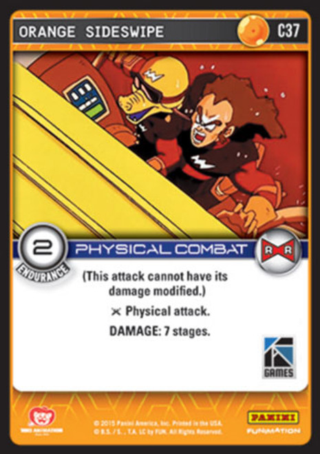Dragon Ball Z CCG Evolution Common Foil Orange Sideswipe C37