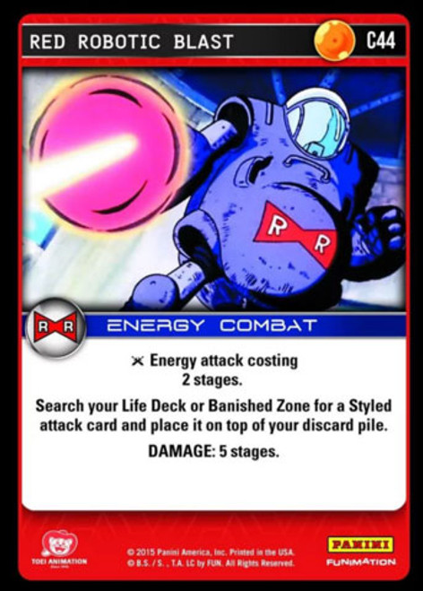 Dragon Ball Z Evolution Common Foil Red Robotic Blast C44