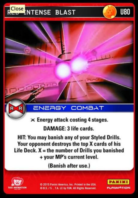 Dragon Ball Z Evolution Uncommon Foil Red Intense Blast U80