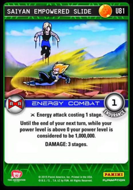 Dragon Ball Z CCG Evolution Uncommon Foil Saiyan Empowered Slide U81