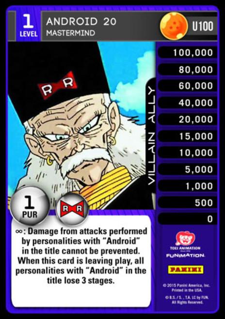 Dragon Ball Z Evolution Uncommon Foil Android 20 - Mastermind U100
