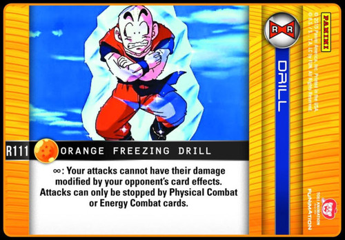 Dragon Ball Z CCG Evolution Rare Foil Orange Freezing Drill R111