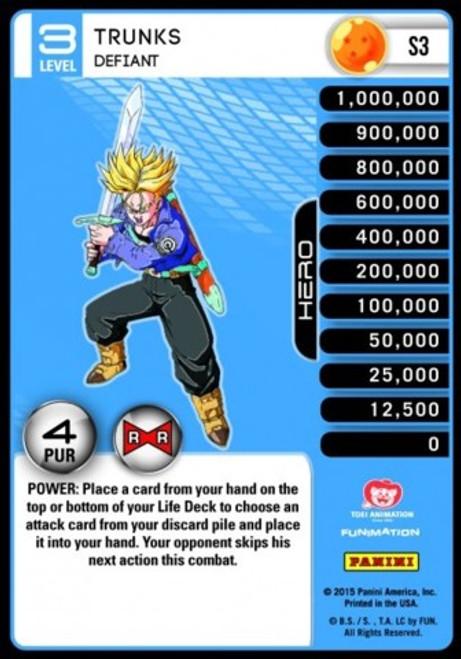 Dragon Ball Z CCG Evolution Fixed Trunks - Defiant S3 [Foil Level 3]