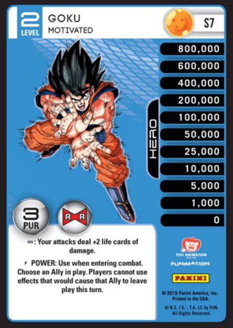 Dragon Ball Z CCG Evolution Fixed Goku - Motivated S7 [Foil Level 2]