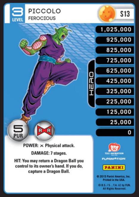 Dragon Ball Z Evolution Fixed Piccolo - Ferocious S13 [Foil Level 3]