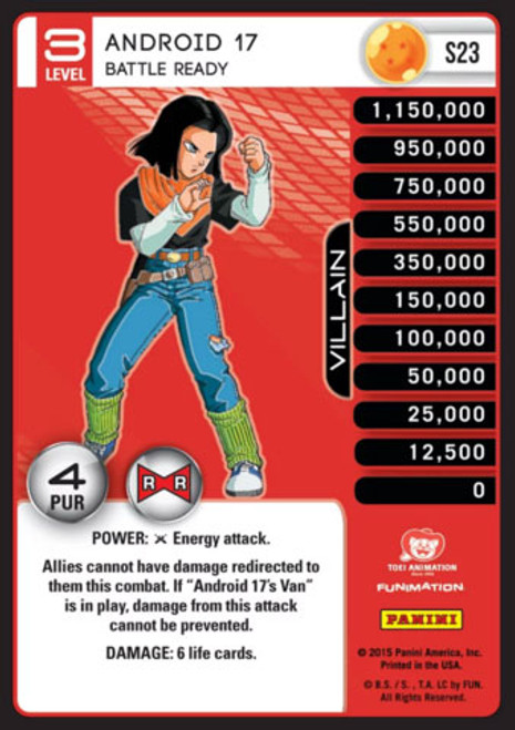 Dragon Ball Z CCG Evolution Fixed Android 17 - Battle Ready S23 [Foil Level 3]