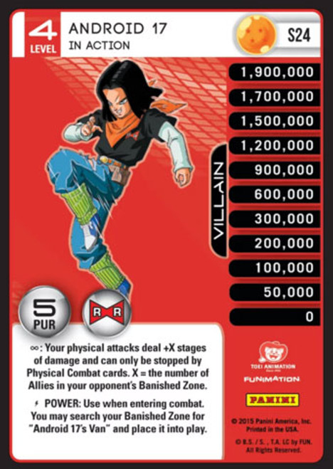 Dragon Ball Z CCG Evolution Fixed Android 17 - In Action S24 [Foil Level 4]