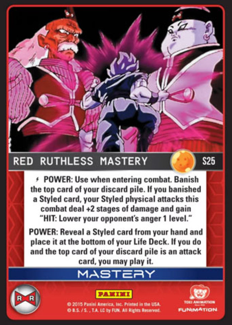 Dragon Ball Z Evolution Fixed Foil Red Ruthless Mastery S25
