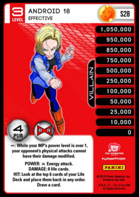 Dragon Ball Z CCG Evolution Fixed Android 18 - Effective S28 [Foil Level 3]