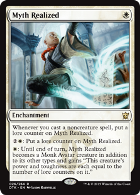 MtG Dragons of Tarkir Rare Foil Myth Realized #26