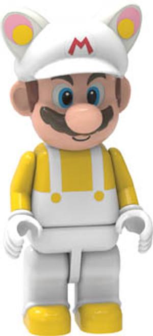 K'NEX New Super Mario Bros. 2 White Tanooki Mario Minifigure [New SMB 2 Loose]