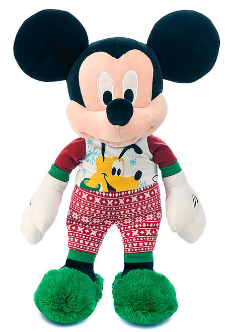 Disney 2015 Holiday Mickey Mouse Exclusive 17-Inch Plush [Pajamas, Green Slippers]