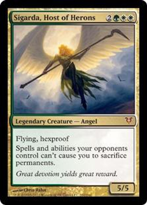 MtG Avacyn Restored Mythic Rare Sigarda, Host of Herons #210 [Signed by the Artist]