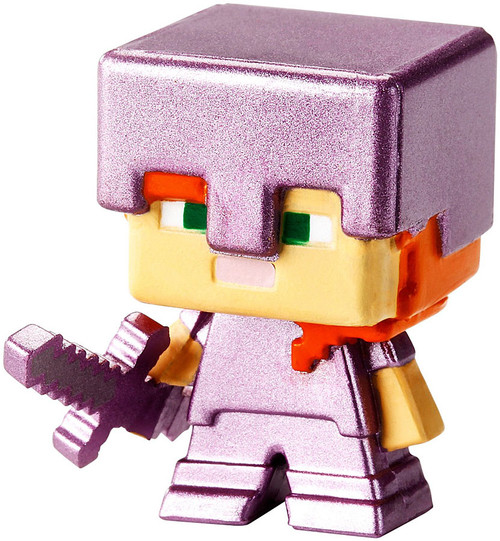 Minecraft Obsidian Series 4 Alex with Enchanted Sword 1-Inch Mini Figure [Loose]