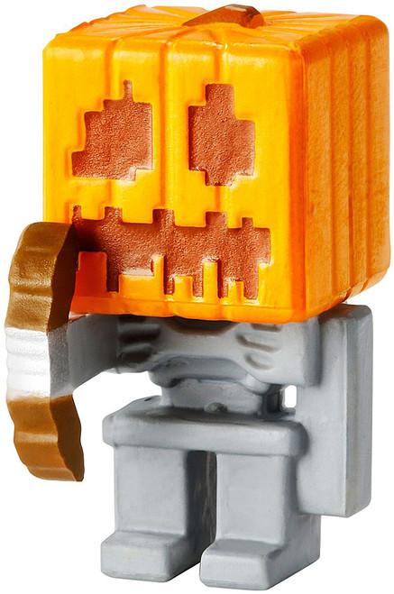 Minecraft Obsidian Series 4 Skeleton with Pumpkin Helmet 1-Inch Mini Figure [Loose]