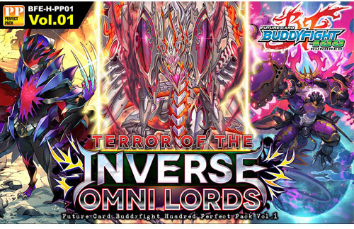 Future Card BuddyFight Trading Card Game Terror of the Inverse Omni Lords H Perfect Booster Box BFE-H-PP01
