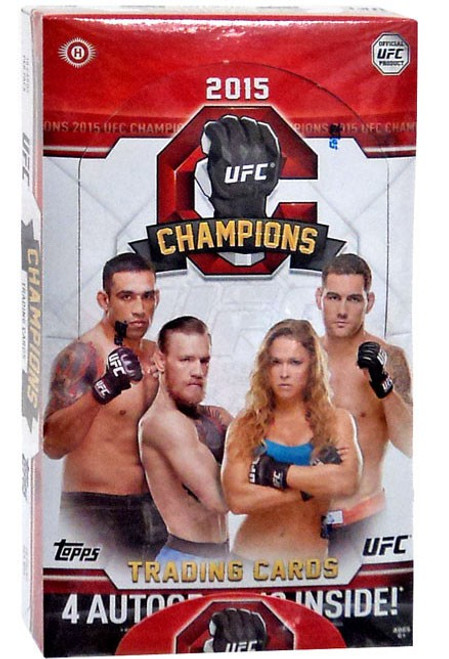UFC Ultimate Fighting Championship 2015 Champions Trading Card HOBBY Box [20 Packs, 4 Autographs!]