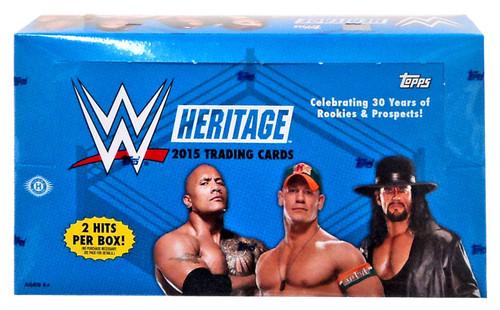 WWE Wrestling Topps 2015 Heritage Trading Card HOBBY Box [24 Packs]