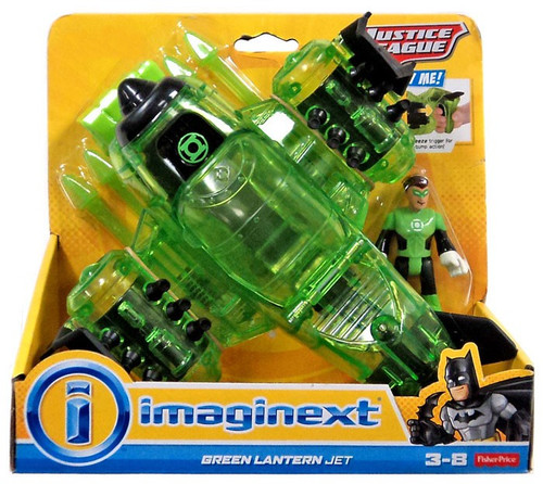 Fisher Price DC Super Friends Imaginext Justice League Green Lantern Jet Exclusive 3-Inch Figure Set [2015]