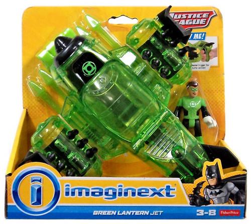 Fisher Price DC Super Friends Imaginext Justice League Green Lantern Jet Exclusive 3-Inch Figure Set [2015]