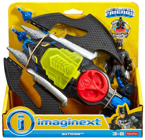 Fisher Price DC Super Friends Imaginext Batwing 3-Inch Figure Set [Gray Suit Batman]