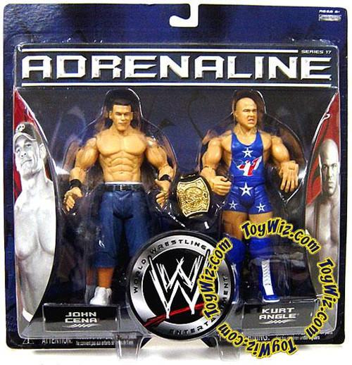 WWE Wrestling Adrenaline Series 17 John Cena vs. Kurt Angle Action Figure 2-Pack [Damaged Package]