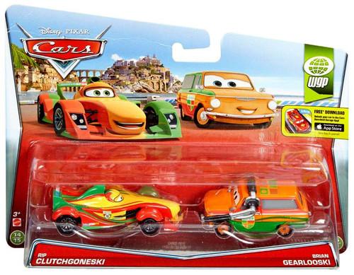 Disney / Pixar Cars WGP Rip Clutchgoneski & Brian Gearlooski Diecast Car 2-Pack #14/15 & 15/15