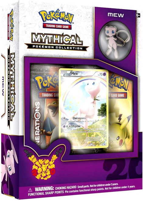 Pokemon Trading Card Game Mythical Mew Collection Box [2 Booster Packs, Promo Card & Pin!]