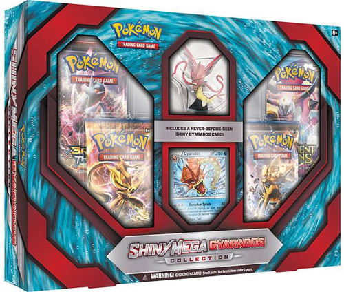 Pokemon Trading Card Game XY Shiny Gyarados Mega Evolution Premium Collection [4 Booster Packs, Figure & Promo Card]