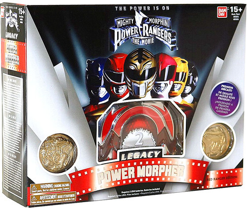 Power Rangers The Movie Legacy Red Ranger Morpher Roleplay Toy