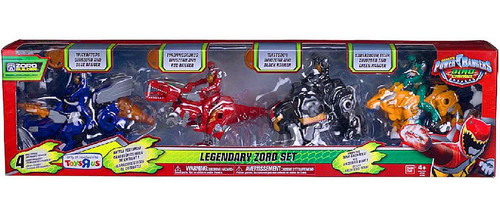 Power Rangers Dino Charge Legendary Zord Set Exclusive Action Figure 4-Pack