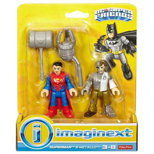 Fisher Price DC Super Friends Imaginext Superman & Metallo 3-Inch Figure Set