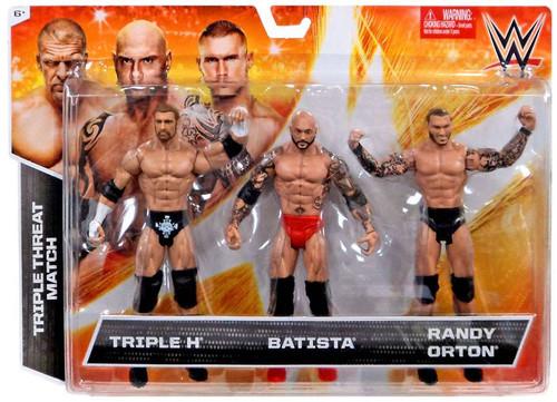 WWE Wrestling Triple H, Batista & Randy Orton Exclusive Action Figure 3-Pack [Triple Threat Match]