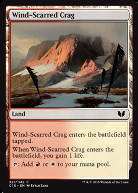 MtG Commander 2015 Common Wind-Scarred Crag #321